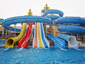 Aquapark sliders, aqua park, water park — Stock Photo