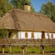 Ukrainian old house in the village - Stock Photo
