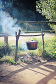 Kettle on the fire — Foto Stock