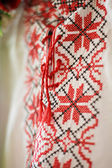 Ukrainian ornament embroidery — Stock Photo