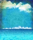Nature seascape for design.Vintage on old paper — Zdjęcie stockowe