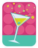 Martini retro style illustration. — Stock Vector