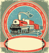 Locomotive label.Vintage style on old texture — Stock Vector