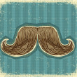 Mustaches symbol set on old paper texture.Vintage background — Stock Vector #9005797