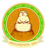 Groundhog day.Vector label background for text — Stock Vector