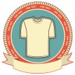 Clothes label set on white.Vector t-shirt background — Stock Vector