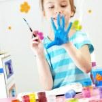 Child painting — Stock Photo #10219971