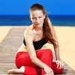 Stock Photo: Fitness the beach