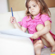 Stok fotoğraf: Child drawing