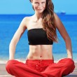 Fitness the beach — Stock Photo #10684827