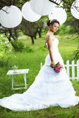 Beautiful bride — Stockfoto