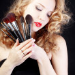 Make-up artist — Stockfoto