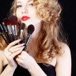Make-up artist — Foto Stock
