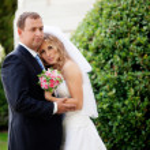 Happy wedding couple — Stock Photo #9406362