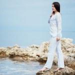 Woman at beach — Stock Photo #9697743