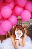 Cheerful bride — Stock Photo