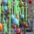 Easter eggs in the square — Stock Photo
