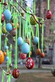Velikonoční vejce na náměstí — Stock fotografie