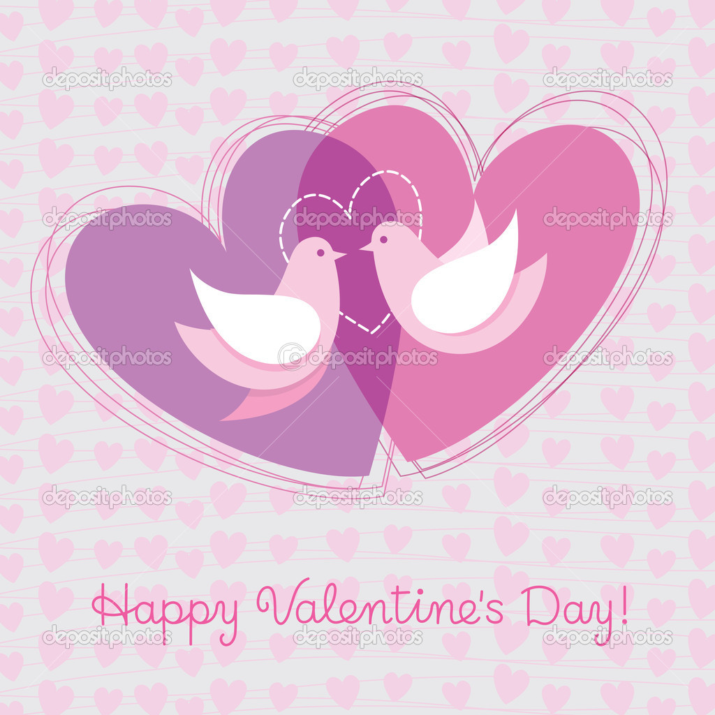 Card to the day of Valentine — Imagen vectorial #8238660