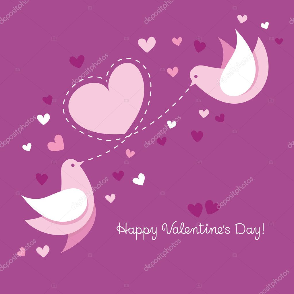 Card to the day of Valentine  Stock Vector #8238663