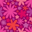 Stock Vector: Seamless flower pattern background