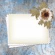Grunge paper design for information in scrap-booking style — Stock Photo #8432763