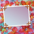 Retro background with decorative frame — Stock Photo #9313960
