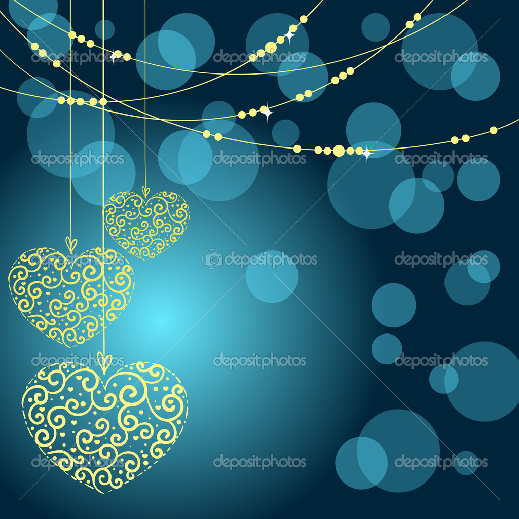 Greeting card with heart. Vector illustration — Imagens vectoriais em stock #8071164