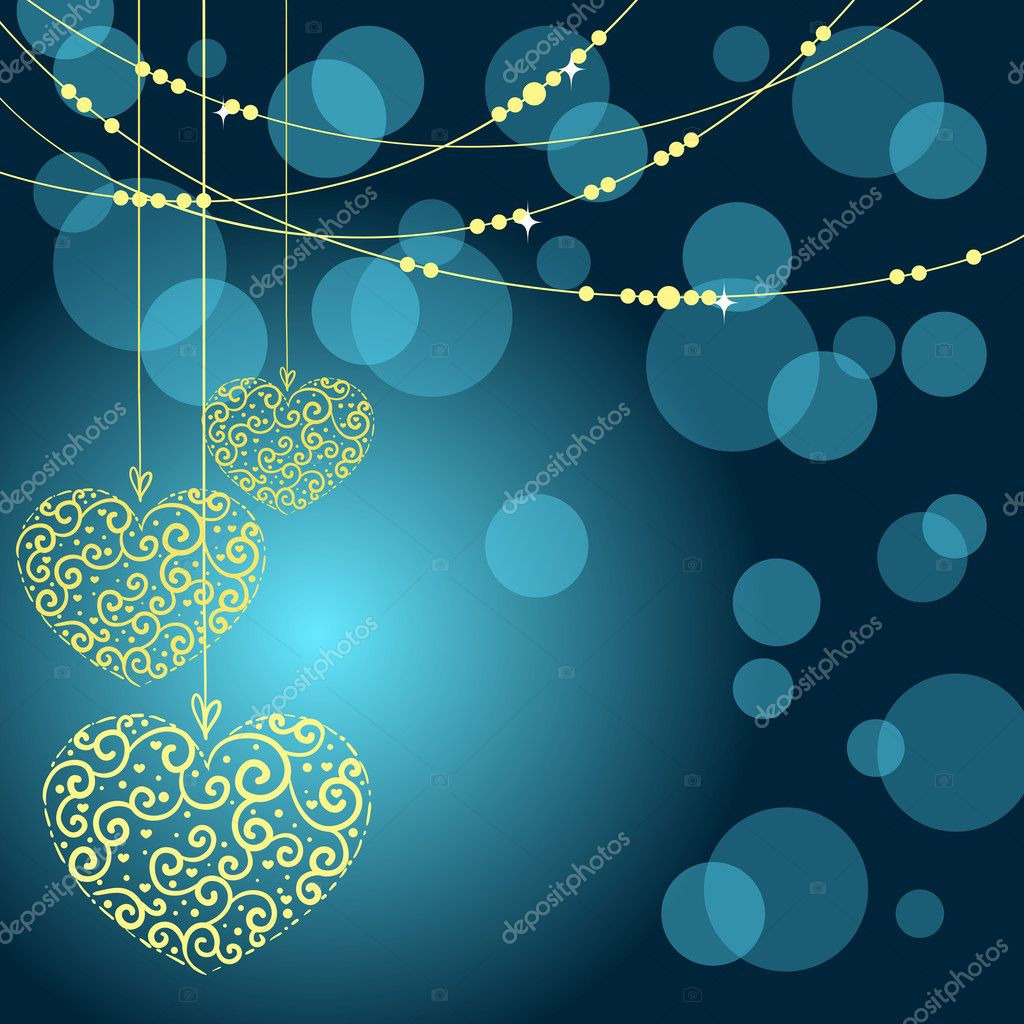 Greeting card with heart. Vector illustration — Stockvectorbeeld #8071164