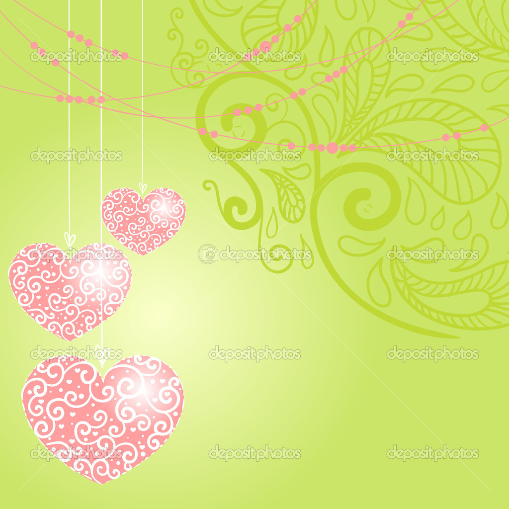 Greeting card with heart. Vector illustration — 图库矢量图片 #8071185