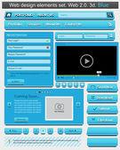 Diseño web creativo conjunto de elementos. — Vector de stock