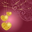 Greeting card with heart — Imagen vectorial