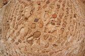 Pared de piedra antigua convexo textura disparó con ojo de pez — Foto de Stock