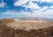 Desert landscape near the Dead Sea seen from Masada — Foto de Stock