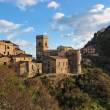 Medieval village of Savoca in Sicily, Italy, at sunset — Stock Photo