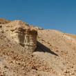 Scenic rock in stone desert near Dead Sea — Stock Photo