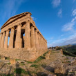 Fisheye view of Concordia temple in Agrigento, Sicily, Italy — Stock Photo