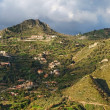 Dawn panorama of hills near Taormina in Sicily, Italy — Stock Photo #8740359