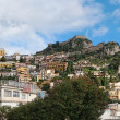 Royalty-Free Stock Photo: Mountain with Saracen Castle above Taormina in Sicily