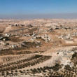 Stock Photo: Arab villages in desert around Herodion near Bethlehem