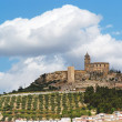 Medieval La Mota castle on the hill in Andalusia, Spain - Stock Photo