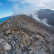 Fisheye view of crater of Vulcano island near Sicily, Italy — Stock Photo