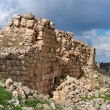 Ruins of crusader castle Bayt Itab near Jerusalem, Israel — Stock Photo