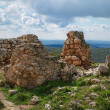 Stock Photo: Ruins of crusader castle Bayt Itab near Jerusalem, Israel