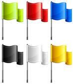 Rectangular flags — Stock Vector