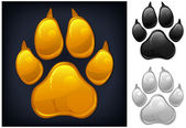 Yellow paw prints — Stock Vector