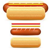 Hotdog stylized — Stock Vector