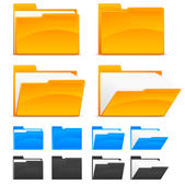 Folder icons — Vector de stock