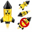Stock Vector: Danger rocket