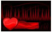 Nabız ve kalp — Stok Vektör